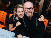 Broadway fave alert! The Cherry Orchard's Celia Keenan-Bolger and Joel Grey snap a sweet pic.