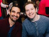 Awww! Hamilton stars Javier Muñoz and Rory O'Malley get together.