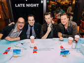 Something Rotten!'s eggcellent guy gang: Brad Oscar, Rob McClure, Josh Grisetti and Will Chase.