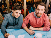 Newlyweds! Theater couple Andy Mientus and Michael Arden sign autographs.