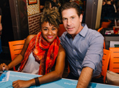 Next stop: the Bronx! A Bronx Tale's Ariana Debose and Richard H. Blake sigh autographs.