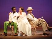 Harold Perrineau as Lopakhin, Diane Lane as Lyubov Ranevskaya and John Glover as Gaev in The Cherry Orchard.