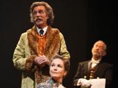 John Glover as Gaev, Diane Lane as Lyubov Ranevskaya and Joel Grey as Firs in The Cherry Orchard.