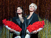 Bianca Marroquin as Roxie and Amra-Faye Wright as Velma in Chicago.