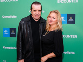 Academy Award nominee and A Bronx Tale scribe Chazz Palminteri and his wife Gianna Ranaudo attend the Broadway opening of The Encounter.