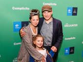 Awww! The Encounter's Simon McBurney, his wife Cassie Yukawa and their daughter Noma celebrate his Broadway opening.