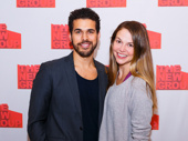 Sweet Charity stars Joel Perez and Sutton Foster snap a pic.