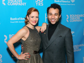 Holiday Inn co-stars Megan Sikora and Corbin Bleu look sharp on the red carpet.