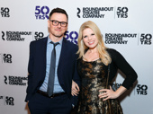 Date night! Brian Gallagher and Broadway fave Megan Hilty enjoy the Broadway opening of Holiday Inn.