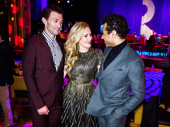 Awww! Time to meet up with her dashing leading men, Holiday Inn's Bryce Pinkham and Corbin Bleu.