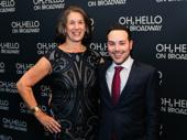 Oh, Hello producers Marcia Goldberg and Patrick Catullo strike a pose.