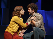 Stephanie J. Block as Trina and Brandon Uranowitz as Mendel in Falsettos.