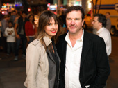 Tony winner Douglas Hodge attends the Love, Love, Love opening with hair and wig designer Amanda Miller.