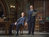 John Slattery as Hildy Johnson and Nathan Lane as Walter Burns in The Front Page.