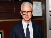 John Slattery looking sharp for his opening night in The Front Page.