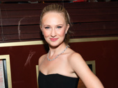 Halley Feiffer strikes a pose for her opening night in The Front Page.