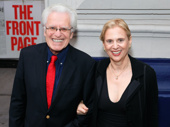 Date night! Jerry Zaks and his wife Jill Rose are all smiles. Zaks directed the last Broadway revival of The Front Page. He is also directing the highly anticipated A Bronx Tale and Hello, Dolly! revival this season.