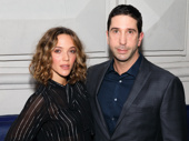 You gotta have Friends. David Schwimmer and his wife Zoe Buckman get together at The Front Page's starry Great White Way opening.