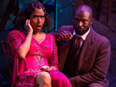 Jennifer Holliday as Shug Avery and Isaiah Johnson as Mister in The Color Purple.