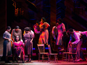Jennifer Holliday as Shug Avery and the cast of The Color Purple.
