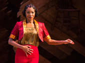 Heather Headley as Shug Avery in The Color Purple.