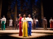 Heather Headley as Shug Avery, Cynthia Erivo as Celie and Danielle Brooks as Sofia in The Color Purple.
