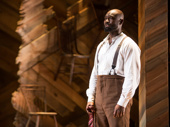 Isaiah Johnson as Mister in The Color Purple.