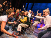Jenn Colella, Kendra Kassebaum and the cast of Come From Away.