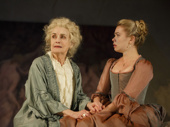 Mary Beth Peil as Madame de Rosemonde and Birgitte Hjort Sørensen as Madame de Tourvel in Les Liaisons Dangereuses.