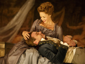 Janet McTeer as La Marquise de Merteuil and Liev Schreiber as Le Vicomte de Valmont in Les Liaisons Dangereuses.