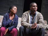 Michelle Wilson as Cynthia and Khris Davis as Chris in Sweat.