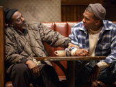 John Earl Jelks as Brucie and Khris Davis as Chris in Sweat.