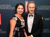 Les Liaisons Dangereuses' fight director Richard Ryan and guest are spiffed up for opening night.