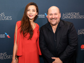 Tony-nominated composer Frank Wildhorn and his wife Yōka Wao attend the Great White Way opening of Les Liaisons Dangereuses.