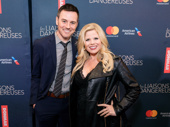 Broadway bombshell Megan Hilty and her husband Brian Gallagher strike a pose. The couple is expecting the arrival of their second child.