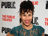 Playwright Dominique Morisseau attends the off-Broadway opening of Sweat.