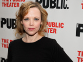Plenty star Emily Bergl spends a night off at the opening of Sweat.