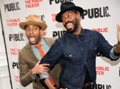 Passing Strange reunion! Daniel Breaker and Colman Domingo goof around on the red carpet.