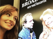 Ahna O'Reilly stares longingly at her Robber Bridegroom bud Leslie Kritzer, who is currently appearing in Broadway's Something Rotten!.(Photo: Instagram.com/ahnaoreilly)