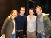 Neville Longbottom visits Harry Potter and the Cursed Child! Harry Potter film star Matthew Lewis snaps a pic with Poppy Miller, Jamie Parker and Paul Thornley.(Photo: Twitter.com/HPPlayLDN)