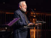 Tony winner and Broadway legend Stephen Sondheim takes the stage.