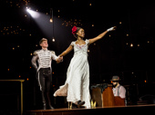 Lucas Steele as Anatole and Denee Benton as Natasha in Natasha, Pierre and the Great Comet of 1812.