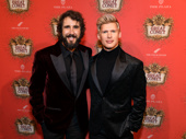 No dueling going on here! The Great Comet's Josh Groban and his co-star Lucas Steele snap a pic.