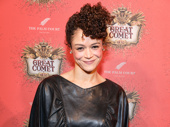 Amber Gray strikes a pose on the evening of her Great White Way debut in Natasha, Pierre and the Great Comet of 1812.