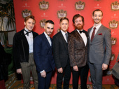 Natasha, Pierre and the Great Comet of 1812 gents Billy Joe Kiessling, Reed Luplau, Josh Canfield, Scott Stangland and Alex Gibson look sharp.