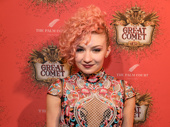Natasha, Pierre and the Great Comet of 1812 dance captain Paloma Garcia-Lee works the red carpet.