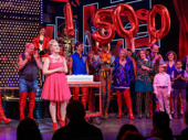 Raise you up! Haven Burton and the Kinky Boots cast celebrate 1,500 performances with a fabulous cake.