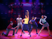 Ariana DeBose as Jane and the cast of The cast of A Bronx Tale.