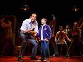 Nick Cordero as Sonny and Hudson Loverro as Young Calogero in A Bronx Tale.