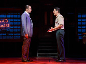 Nick Cordero as Sonny and Richard H. Blake as Lorenzo in A Bronx Tale.